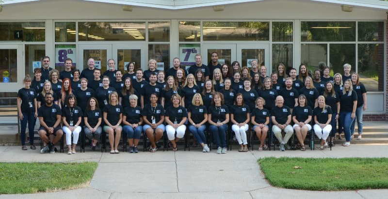 Photo of the entire 2018-2019 Dawes Staff